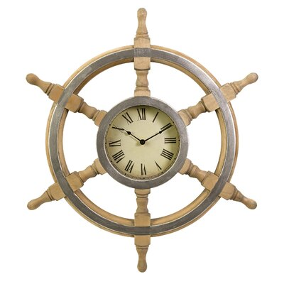 26 Nautical Ship Wheel Clock