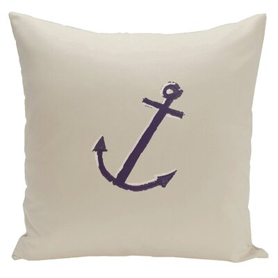 Worcester Anchor Throw Pillow Size: 16
