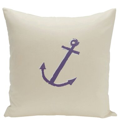 Lake Butter Anchor Throw Pillow Size: 16 H x 16 W, Color: Oatmeal / Indigo