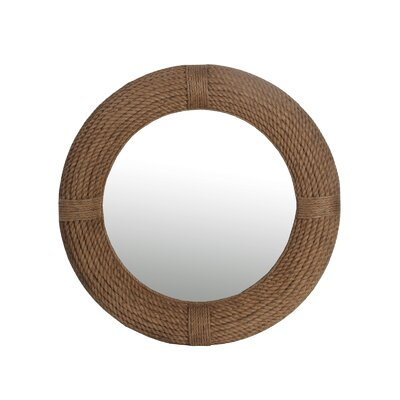Breakwater Bay Leeward Round Rope Wall Mirror