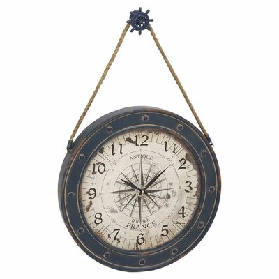 Adrift Oversized 24 Classic Designed Metal Wood Wall Clock