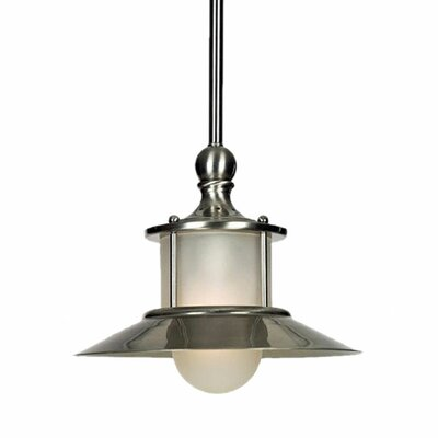 Commodore 1-Light Mini Pendant Finish: Brushed Nickel