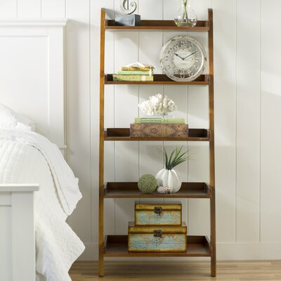 Old Orchard 55 Leaning Bookcase Finish: Oak