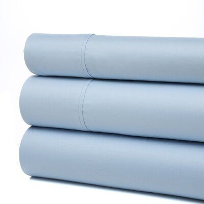 Orleans 300 Thread Count Cotton Sheet Set Size: Twin, Color: Light Blue