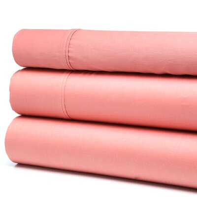 Orleans 300 Thread Count Cotton Sheet Set Size: King, Color: Mauve