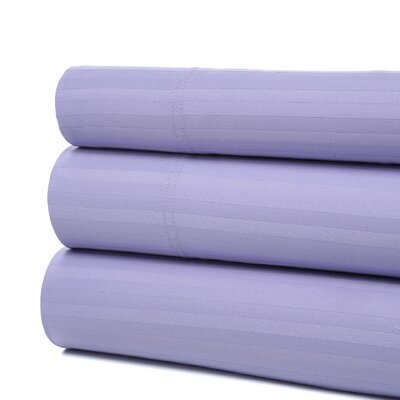 Orleans 300 Thread Count Woven Stripe Sheet Set Color: Lilac, Size: California King