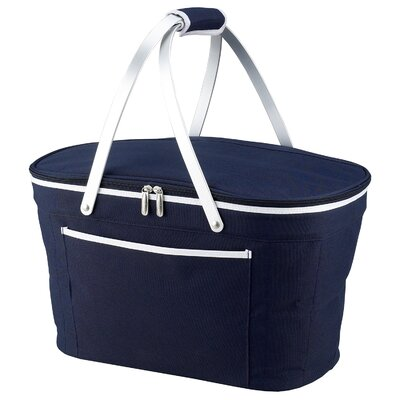 Green Bay Collapsible Basket Cooler Color: Navy