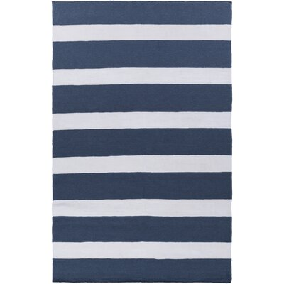 Peugeot Navy/Ivory Indoor/Outdoor Area Rug Rug Size: 36 x 56
