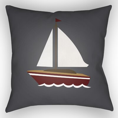 Baywood Indoor/Outdoor Throw Pillow Size: 20 H x 20 W x 4 D, Color: Gray