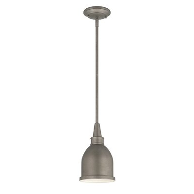 Manston 1-Light Metal Mini Pendant Color: Aged Steel