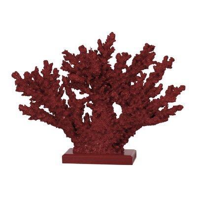 """Ashberry Faux Coral Sculpture Size: 10.24"""" H x 13.39"""" W x 3.54"""" D BCHH8902 41964432"""