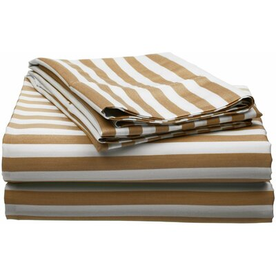 Ariel 600 Thread Count Cotton Blend Sheet Set Size: Full, Color: Taupe