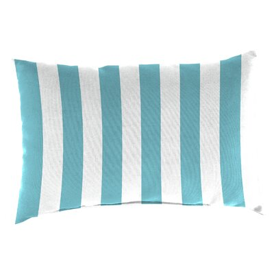 Ardley Outdoor Lumbar Pillow Color: Cabana Turquoise
