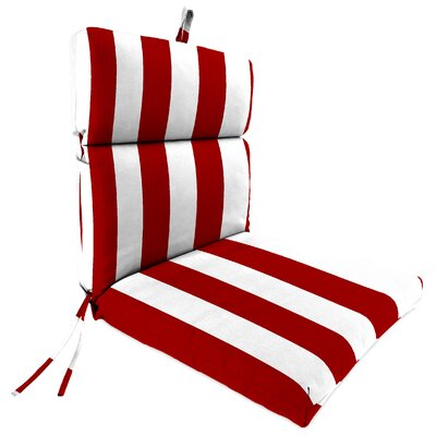 Outdoor Dining Chair Cushion Fabric: Cabana Red