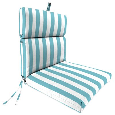 Outdoor Dining Chair Cushion Fabric: Cabana Turquoise