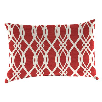 Edgecomb Outdoor Lumbar Pillow Color: Hedda Ruby