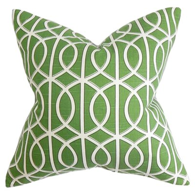 Isle of Springs Geometric Cotton Throw Pillow Color: Watercress, Size: 18