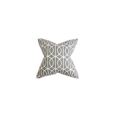 Willington 100% Cotton Throw Pillow Color: Charcoal, Size: 18 H x 18 W