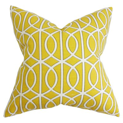 Isle of Springs Geometric Cotton Throw Pillow Color: Citrine, Size: 20 H x 20 W