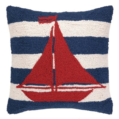 Bailey Island Sailboat Stripe Throw Pillow