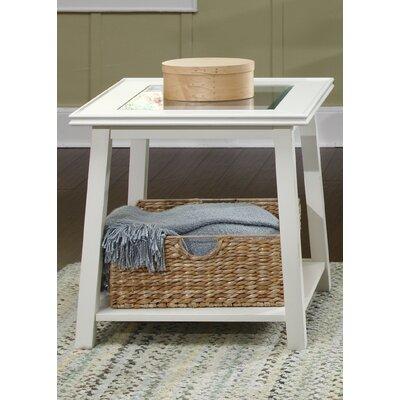 Meagan End Table Color: Linen