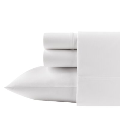 Overbrook Shores 200 Thread Count 100% Cotton Sheet Set Size: Full, Color: White