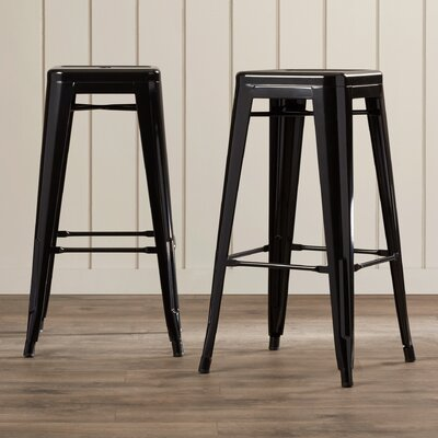 Trenton 30 Bar Stool Color: Black