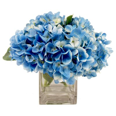 Breakwater Bay Faux Hydrangea in Blue