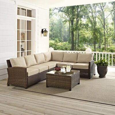 Middlesex 5 Piece Deep Seating Group with Cushion Fabric: Sand