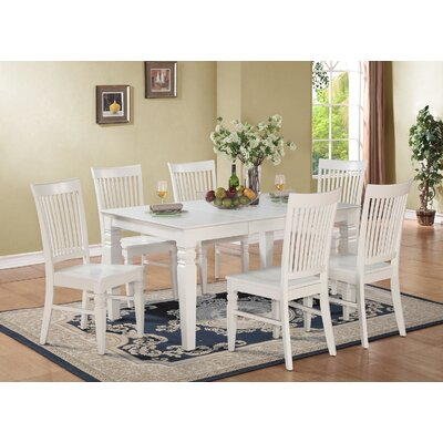 Pennington 7 Piece Wood Dining Set Finish: Off-White