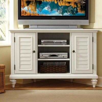 Harrison Corner 49.5 TV Stand Color: Brushed White