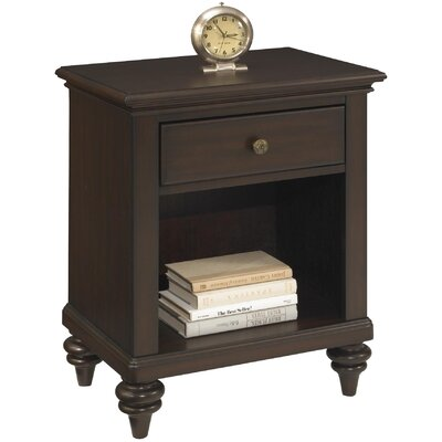 Kenduskeag 1 Drawer Nightstand Finish: Espresso
