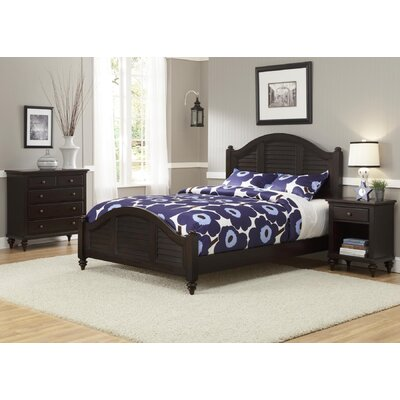 Harrison Traditional Striped Panel 3 Piece Bedroom Set Finish: Espresso, Size: King