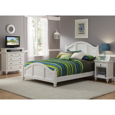 Kenduskeag Panel 3 Piece Bedroom Set Finish: Brushed White, Size: King