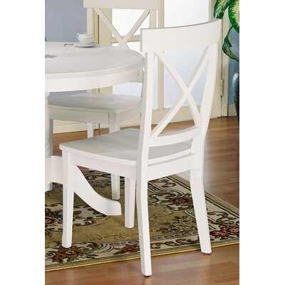 Salmon Falls Solid Wood Dining Chair (Set of 2) Side Chair Color: White