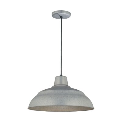 Stetson 1-Light Pendant Finish: Galvanized, Size: 9.25 H x 17 W