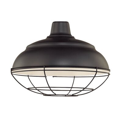 Sally Bowl Pendant Shade Size: 9.25 H x 17 W, Finish: Satin Black