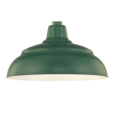 Sally Bowl Pendant Shade Size: 9.25 H x 17 W, Finish: Satin Green