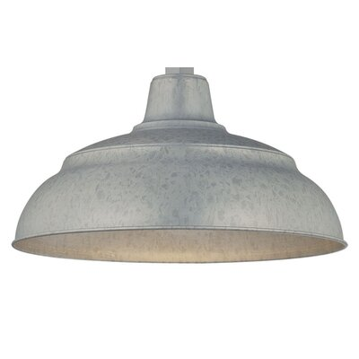 Sally Bowl Pendant Shade Size: 9.25 H x 17 W, Finish: Galvanized