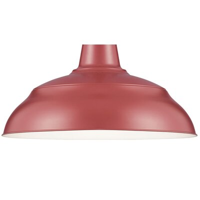 Sally Bowl Pendant Shade Size: 9.25 H x 17 W, Finish: Satin Red