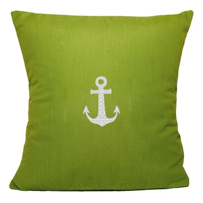 Princeton Embroided Sunbrealla Fabric Indoor/Outdoor Throw Pillow Color: Parrot Green, Size: 12