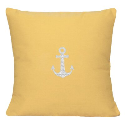 Princeton Embroided Sunbrealla Fabric Indoor/Outdoor Throw Pillow Size: 18 H x 18 W, Color: Yellow
