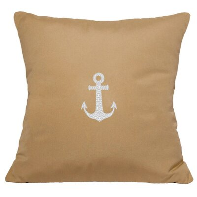 Princeton Embroided Sunbrealla Fabric Indoor/Outdoor Throw Pillow Size: 14 H x 14 W, Color: Wet Sand