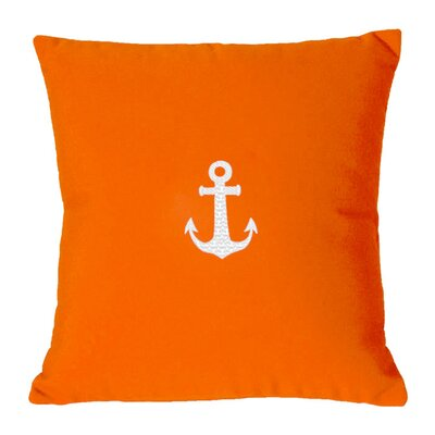 Princeton Embroided Sunbrealla Fabric Indoor/Outdoor Throw Pillow Color: Melon, Size: 12 H x 20 W