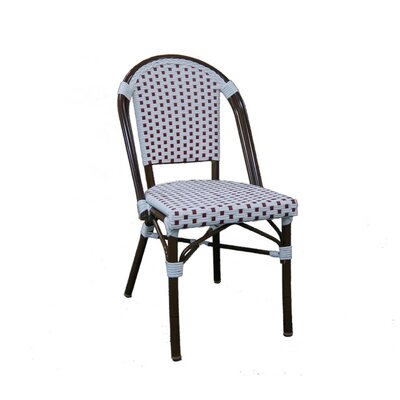 Trevett Side Chair Upholstery: White / Red