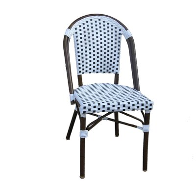 Trevett Side Chair Upholstery: White / Black