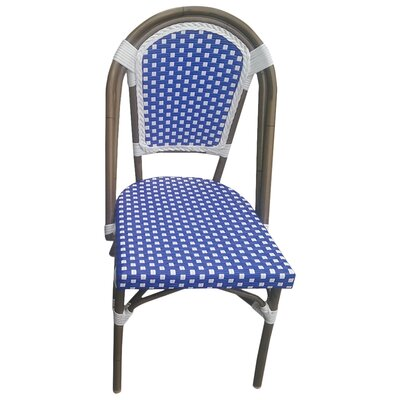 Trevett Side Chair Upholstery: Navy / White