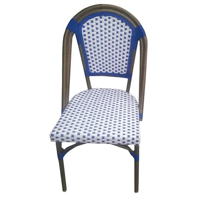 Trevett Side Chair Upholstery: White / Navy