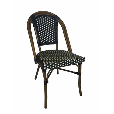 Trevett Side Chair Upholstery: Black / White
