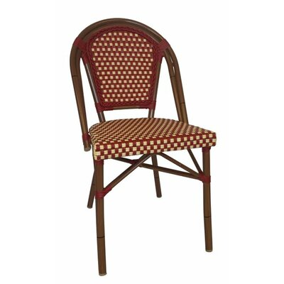 Trevett Side Chair Upholstery: Red / White
